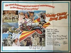 Chitty Chitty Bang Bang Original Quad Movie Poster 1968 Dick van Dyke