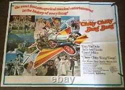 Chitty chitty bang bang original uk quad film poster (1968)