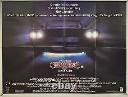 Christine Original UK British Quad Film Poster (1984) 30x40 Stephen King