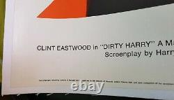 Clint Eastwood Dirty Harry Linen Backed Uk Quad Original Movie Poster Vf