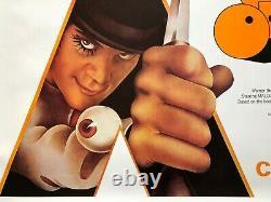Clockwork Orange Original re-release UK quad movie poster
