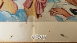 Come Play With Me Original British Movie Quad Poster 1977 Tom Chantrell Art