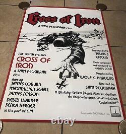 Cross Of Iron Original UK Movie Quad (1977)