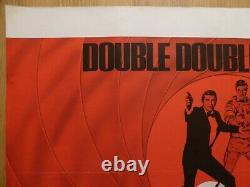 DOUBLE DOUBLE-0-SEVEN (1980s) -original UK quad film poster, James Bond 007, rare
