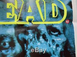 Day Of The Dead Original UK British Quad Film Poster 1985 Romero