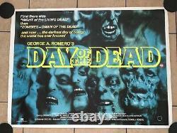 Day Of The Dead Original UK Movie Quad (1985) George A. Romero