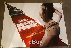 Death Proof movie ORIGINAL Cinema quad poster DS FULL SIZE TARANTINO ORIGINAL