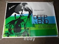 Deep End 1970 UK Quad Film Poster (Jane Asher/Diana Dors) (Jerzy Skolimowski)