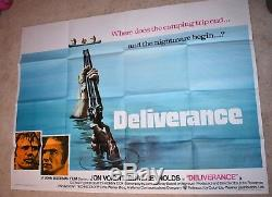 Deliverance film poster UK Quad Burt Reynolds Jon Voight
