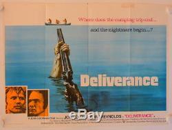 Deliverance original release british quad movie poster