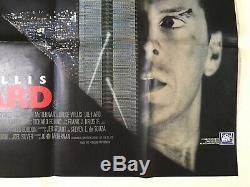 Die Hard Original Movie Quad Poster 1988 Bruce Willis Alan Rickman