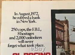 Dog Day Afternoon Original British Movie Quad UK Film 1975 Al Pacino