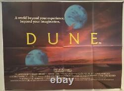 Dune Original UK British Quad Film Poster 1984 Advance Style David Lynch