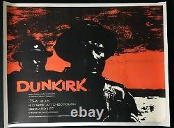 Dunkirk Original Quad Movie Poster John Mills Ealing Studios 1958 LINEN BACKED