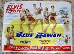 ELVIS PRESLEY Blue Hawaii Original UK Film Quad Poster