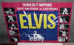 ELVIS PRESLEY original RARE 1971 30x40 Quad movie poster THAT'S THE WAY IT IS
