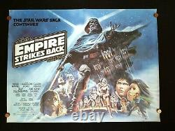 EMPIRE STRIKES BACK (1980) Original ROLLED UK Quad Movie Poster STAR WARS