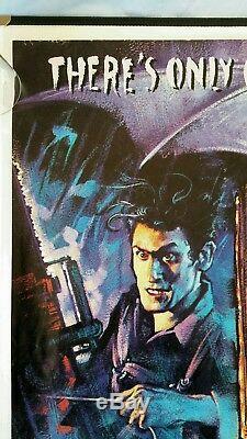 EVIL DEAD 2 original 1987 UK quad movie Poster Cult Zombie Horror Sam Raimi