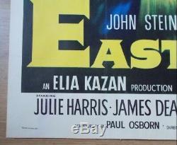 East of Eden, Original 1955 British Quad Linen Film Movie Poster, James Dean