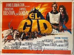 El Cid Original UK British Quad Film Poster (1961) Charlton Heston