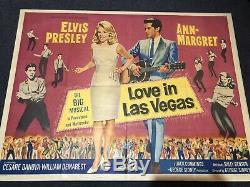 Elvis Film Poster Love In Las Vegas Aka Viva Las Vegas Uk Quad 1964