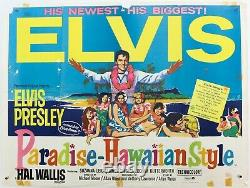 Elvis Presley, Paradise Hawaiian Style (1966) Uk British Quad Film Movie Poster
