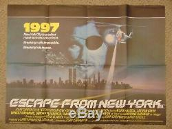 Escape From New York 1981 Kurt Russell British Quad 30x40 Poster N8122