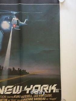 Escape from New York UK Quad Cinema Movie Poster John Carpenter