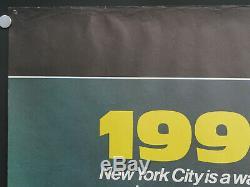 Escape from new york (ROLLED) 1981 uk quad cinema film poster john carpenter