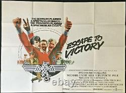Escape to Victory Original Quad Movie Poster 1981 Michael Caine John Huston Pele