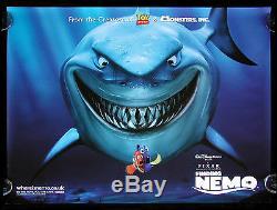 FINDING NEMO CineMasterpieces UK QUAD DISNEY SHARK FISH ORIGINAL MOVIE POSTER