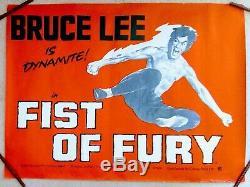 FIST OF FURY- BRUCE LEE (1972 film). ORIGINAL UK Quad POSTER