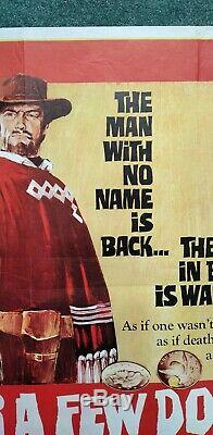 FOR A FEW DOLLARS MORE (1965) original UK quad movie poster CLINT EASTWOOD