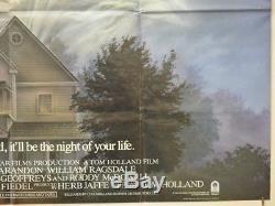FRIGHT NIGHT (1985) Original Cinema Quad Movie Poster Roddy McDowell