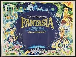 Fantasia Original Quad Movie Poster Walt Disney RR