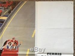 Ferris Bueller's Day Off, Original 1986 British Quad Movie Film Poster, Ferrari