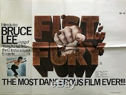 Fist Of Fury Original Movie Quad Poster 1973 Bruce Lee Kung Fu
