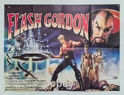 Flash Gordon 1980 Original UK Quad Poster Science Fiction Movie Queen