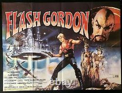 Flash Gordon Original Quad Movie Poster 1980 Sci-fi Space Opera