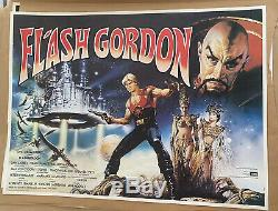 Flash Gordon UK British Quad LINEN BACKED (1980) Original Film Poster