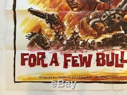 For A Few Bullets More Original Movie Quad Poster 1967 Edd Byrnes George Hilton