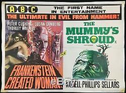 Frankenstein Created Woman Mummys Shroud Original Quad Movie Poster Hammer 1967