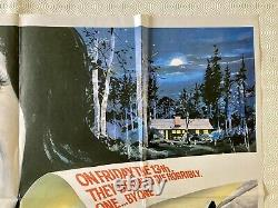 Friday the 13th Original 1980 Movie Quad Poster Betsy Palmer Adrienne King