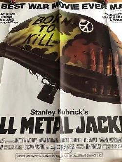 Full Metal Jacket-Original British Quad Cinema Movie Poster, Stanley Kubrick