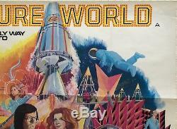 Future World Original Uk Movie Quad Film Poster 1976 Peter Fonda Blythe Danner