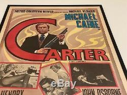 GET CARTER Genuine Original Rare 1971 Italian Quad Size Framed Film Poster