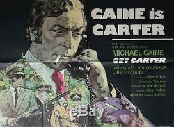 GET CARTER MICHAEL CAINE ORIGINAL 1971 UK QUAD MOVIE POSTER- Arnaldo Putzu