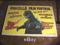 GODZILLA FILM FESTIVAL'82 ORIG BRITISH QUAD 30x40 MOVIE POSTER