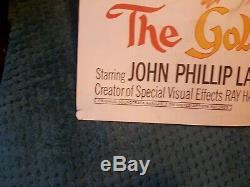 GOLDEN VOYAGE OF SINBAD Film / Movie Quad poster original! Ray harryhausen