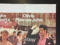 GREASE 1978 Original Cinema UK Quad Movie POSTER John Travolta Newton-John RARE